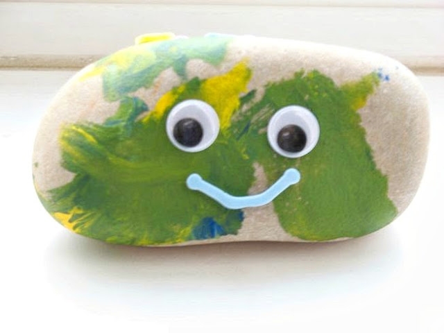 Painted Rock Pet Kid Craft: Grow Creative Blog