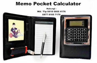 Souvenir Promosi Memo Pocket Calculator