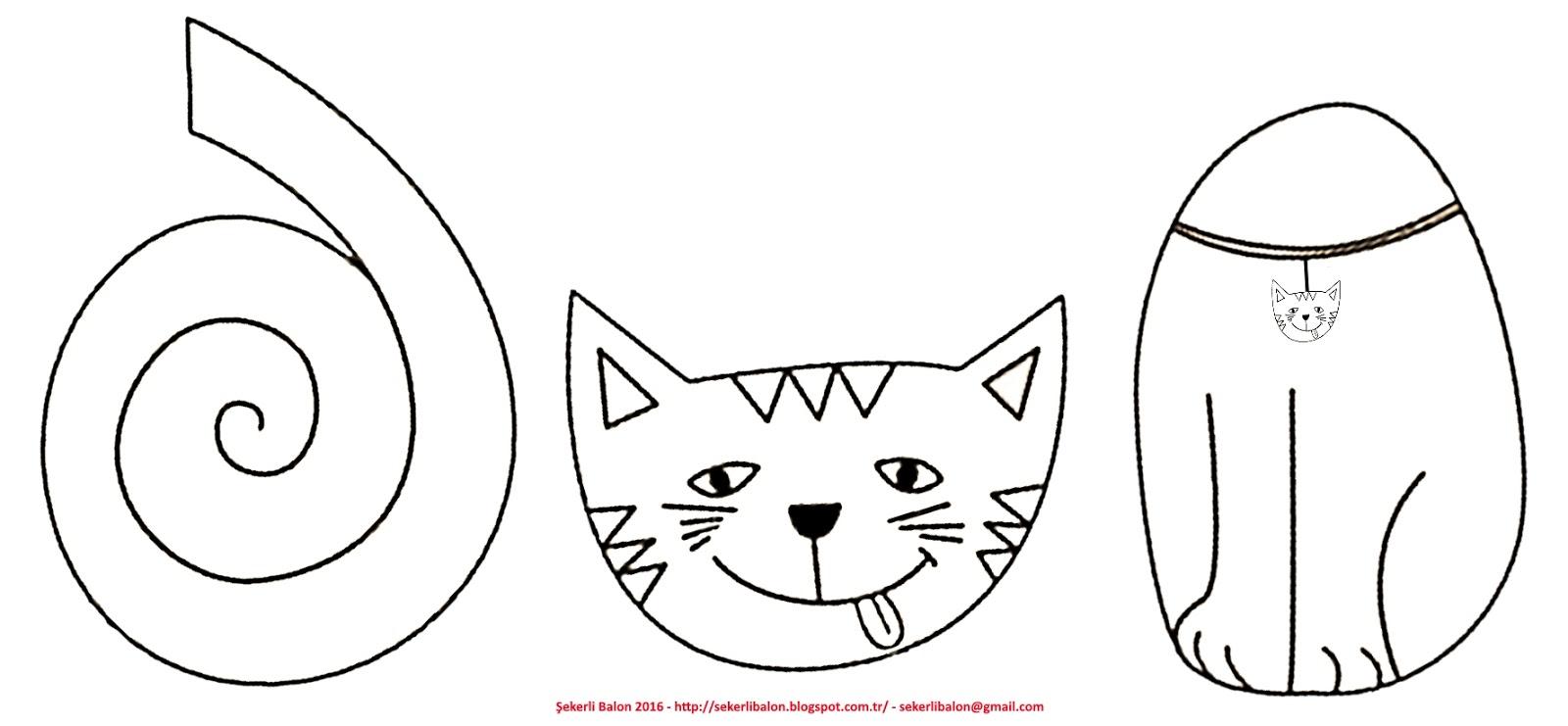 şekerli Balon Yaramaz Kediler Oda Süsü