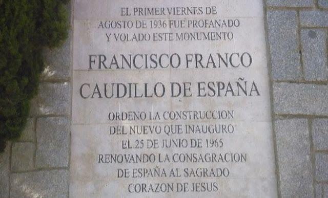 El obispo de Getafe se niega a quitar una placa franquista