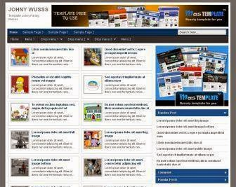 johny wuss blogger template