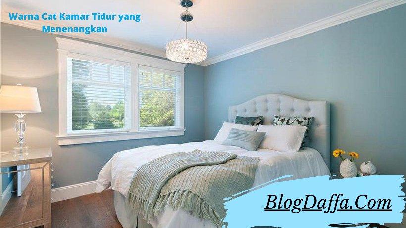Pilihlah warna kamar tidur yang menenangkan