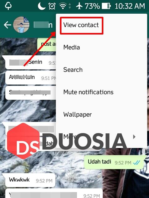 cara cek pesan berbintang whatsapp