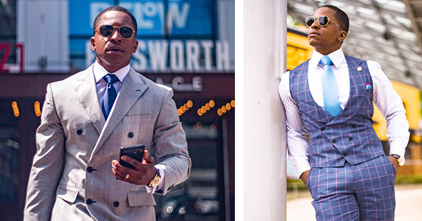 David President, Jr, the Traveling Tailor, founder of DP Attire