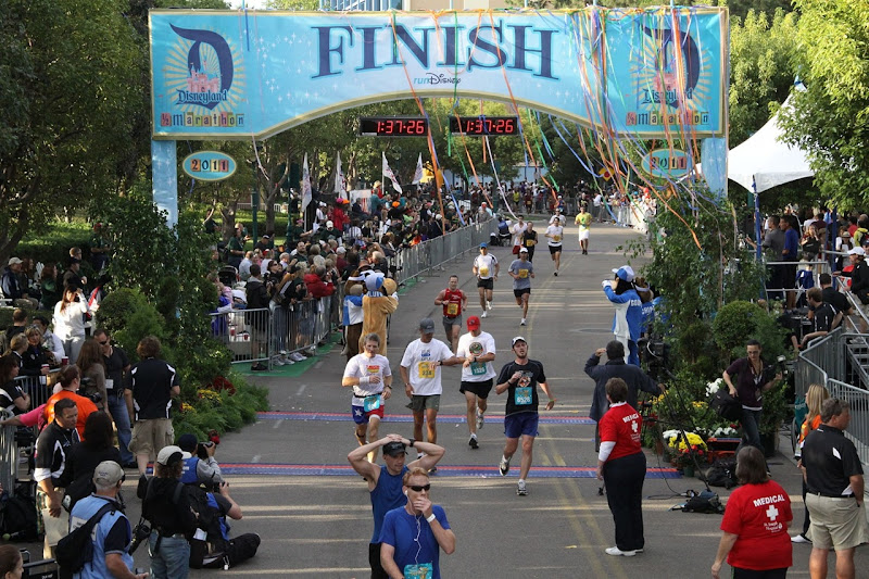Disney Half Marathon Finish 2011