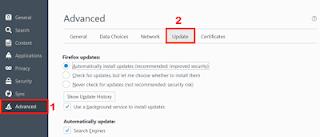 2 Cara Menonaktifkan Automatis Update Pada Mozilla Firefox