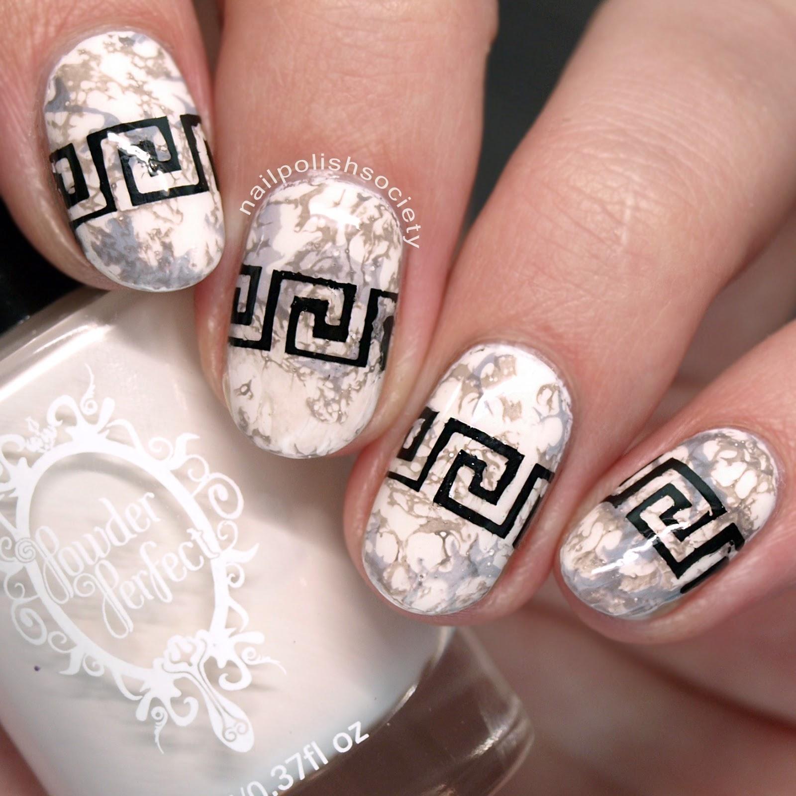Nail Polish Society 31dc2016 Day 7 Greek Marble