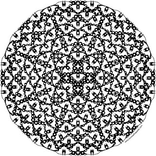 Batty Halloween mandala tto print and color- available in jpg and transparent png format
