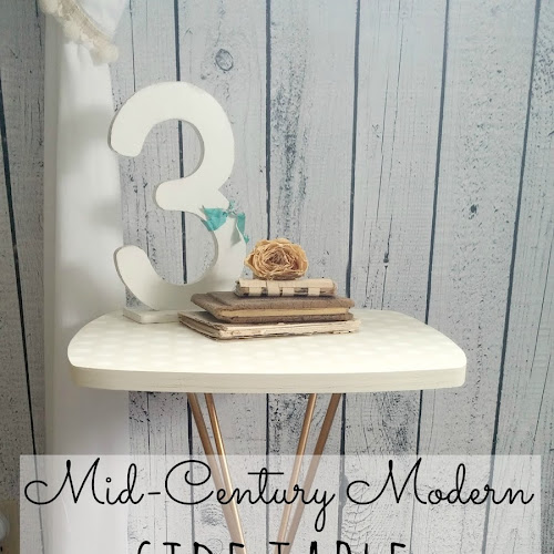 Mid-Century Modern Side Table Makeover