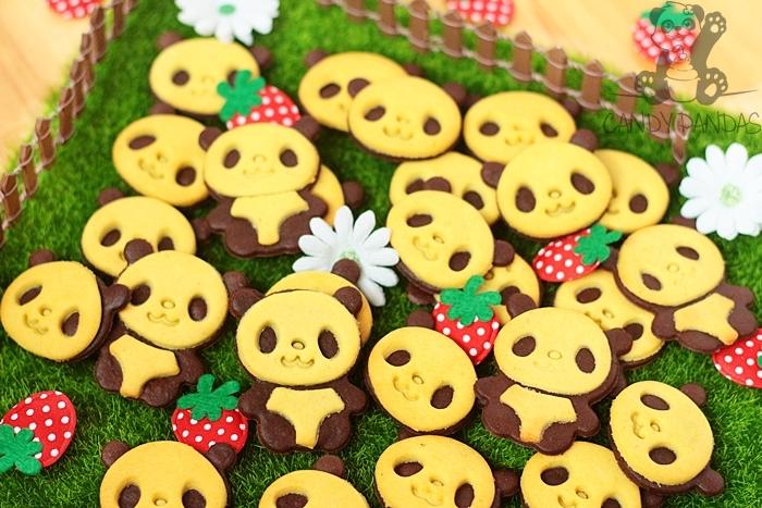Ciasteczka pandy (bez glutenu, cukru białego, laktozy)