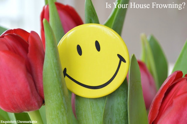 Smiling Face Button in Flowers