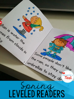 Spring Fold and Go Mini Books- comes with three levels of differentiation to use with different small group readers