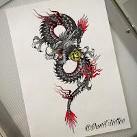 дракон тату