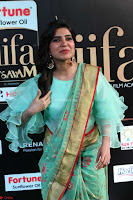 Samantha Ruth Prabhu Smiling Beauty in strange Designer Saree at IIFA Utsavam Awards 2017  Day 2  Exclusive 21.JPG