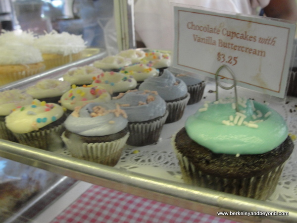 cupcake case at Magnolia Bakery in NYC
