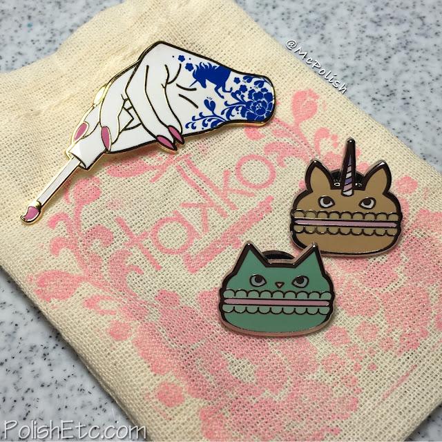 Takko Lacquer - Tattoo and Macaron pins - McPolish