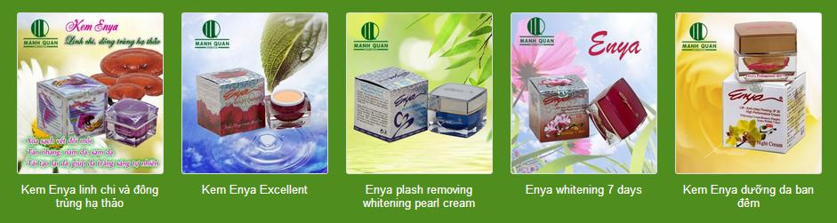 kem enya dưỡng trắng, kem enya chống lão hóa, kem enya trị nám, kem enya đông trùng hạ thảo, kem enya ngọc trai