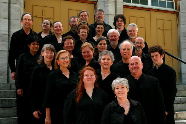 The shade from the church allowed softened shadows in this choir photo from 2011
