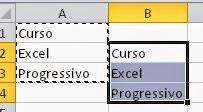 Colando células, linhas e colunas de uma planilha do Excel
