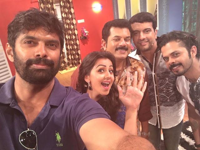 Sreeshanth, Nikki galrani Team 5 movie Promotions