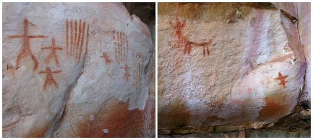 pinturas rupestres na Serra do Lenheiro, São João del Rei - MG