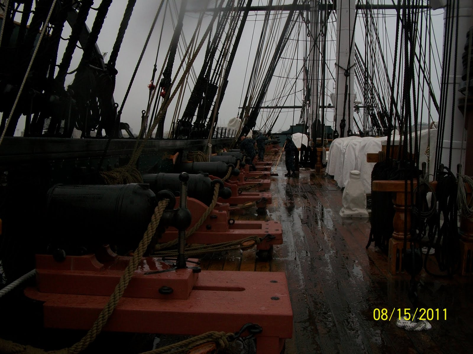 Bostonmaggie: Rainy Monday Aboard USS Constitution Uss Constitution Pictures Of Deck