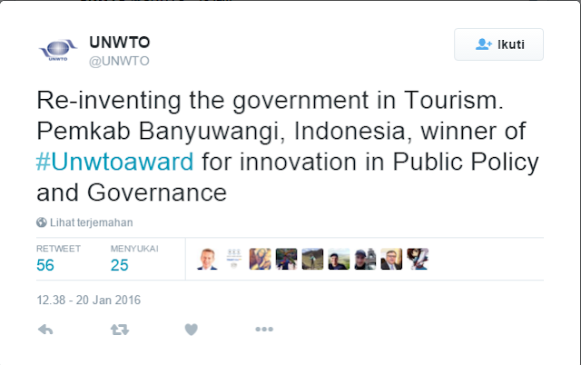 Banyuwangi Re-inventing the government in Tourism.