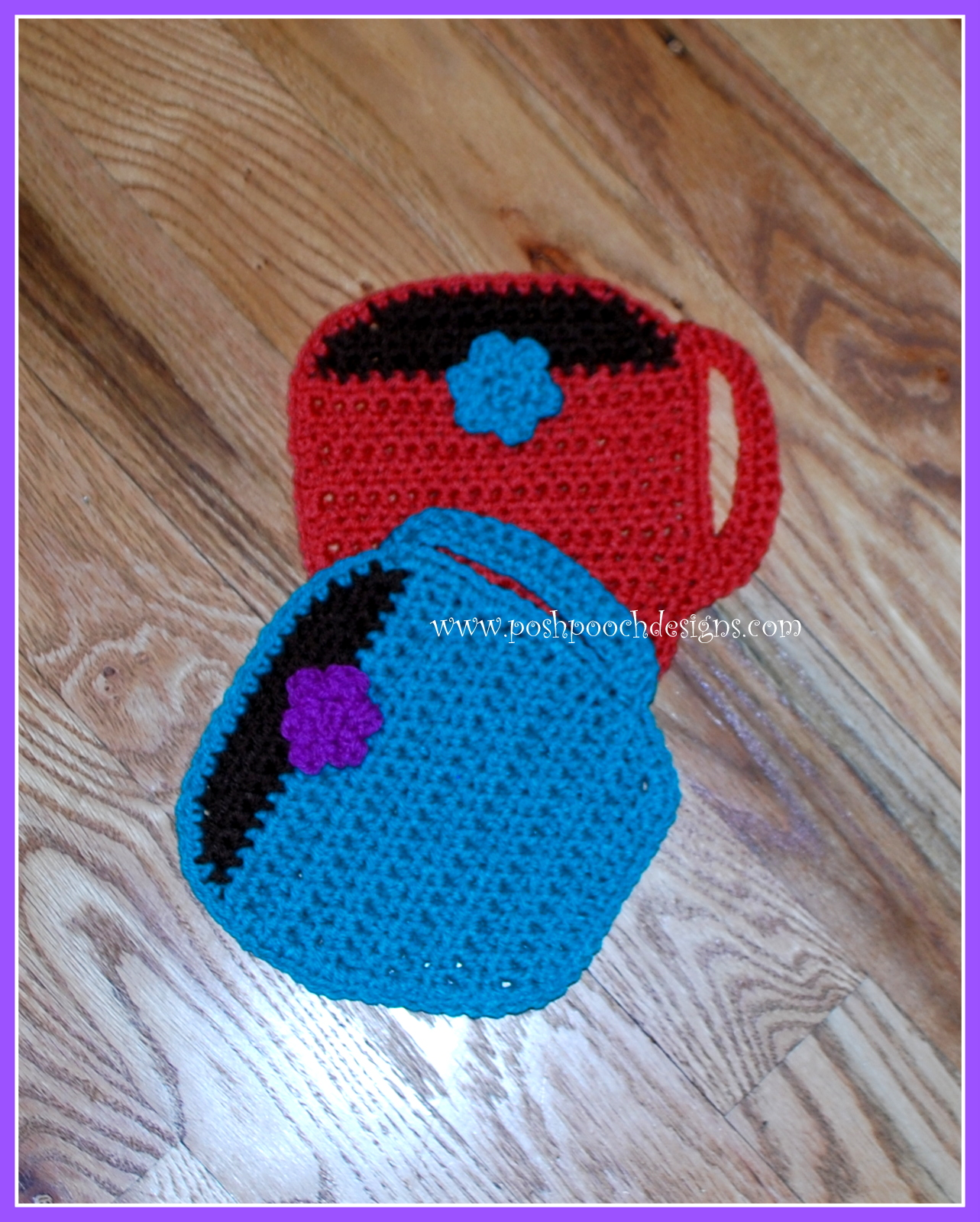 Posh Pooch Designs Dog Clothes: Coffee Cup Hot Pad Crochet Pattern