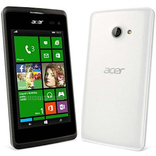 Acer Liquid M220 Specifications - LAUNCH Announced 2015, March DISPLAY Type TFT capacitive touchscreen Size 4.0 inches (~57.0% screen-to-body ratio) Resolution 480 x 800 pixels (~233 ppi pixel density) Multitouch Yes BODY Dimensions 124.9 x 64 x 9.6 mm (4.92 x 2.52 x 0.38 in) Weight 119 g (4.20 oz) SIM Single SIM (Mini-SIM) or Dual SIM (Mini-SIM/Micro-SIM, dual stand-by) PLATFORM OS Microsoft Windows Phone 8.1 CPU Dual-core 1.2 GHz Cortex-A7 Chipset Qualcomm MSM8210 Snapdragon 200 GPU Adreno 302 MEMORY Card slot microSD, up to 32 GB (dedicated slot) Internal 4 GB, 512 MB RAM - Liquid M220 8 GB, 1 GB RAM - Liquid M220 Plus CAMERA Primary 5 MP, autofocus, LED flash Secondary 2 MP Features Geo-tagging, panorama Video Yes NETWORK Technology GSM / HSPA 2G bands GSM 850 / 900 / 1800 / 1900 - SIM 1 & SIM 2 (dual-SIM model only) 3G bands HSDPA 900 / 2100    HSDPA 850 / 1900  HSDPA 850 / 1700(AWS) Speed HSPA 21.1/5.76 Mbps GPRS Yes EDGE Yes COMMS WLAN Wi-Fi 802.11 b/g/n, hotspot GPS Yes, with A-GPS USB microUSB v2.0 Radio FM radio Bluetooth v4.0, A2DP FEATURES Sensors Accelerometer, proximity Messaging SMS (threaded view), MMS, Email, Push Email, IM Browser HTML Java No SOUND Alert types Vibration; MP3, WAV ringtones Loudspeaker Yes 3.5mm jack Yes Features  BATTERY  Removable Li-Ion 1300 mAh battery Stand-by Up to 200 h Talk time Up to 4 h Music play  MISC Colors Mystic Black, Pure White  - OneDrive (15 GB cloud storage) - MP3/WAV/eAAC+/WMA player - MP4/H.264/WMV player - Document viewer - Video/photo editor