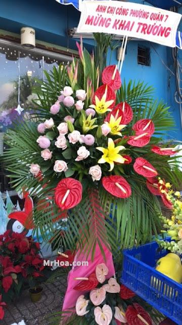 Hoa chuc mung khai truong