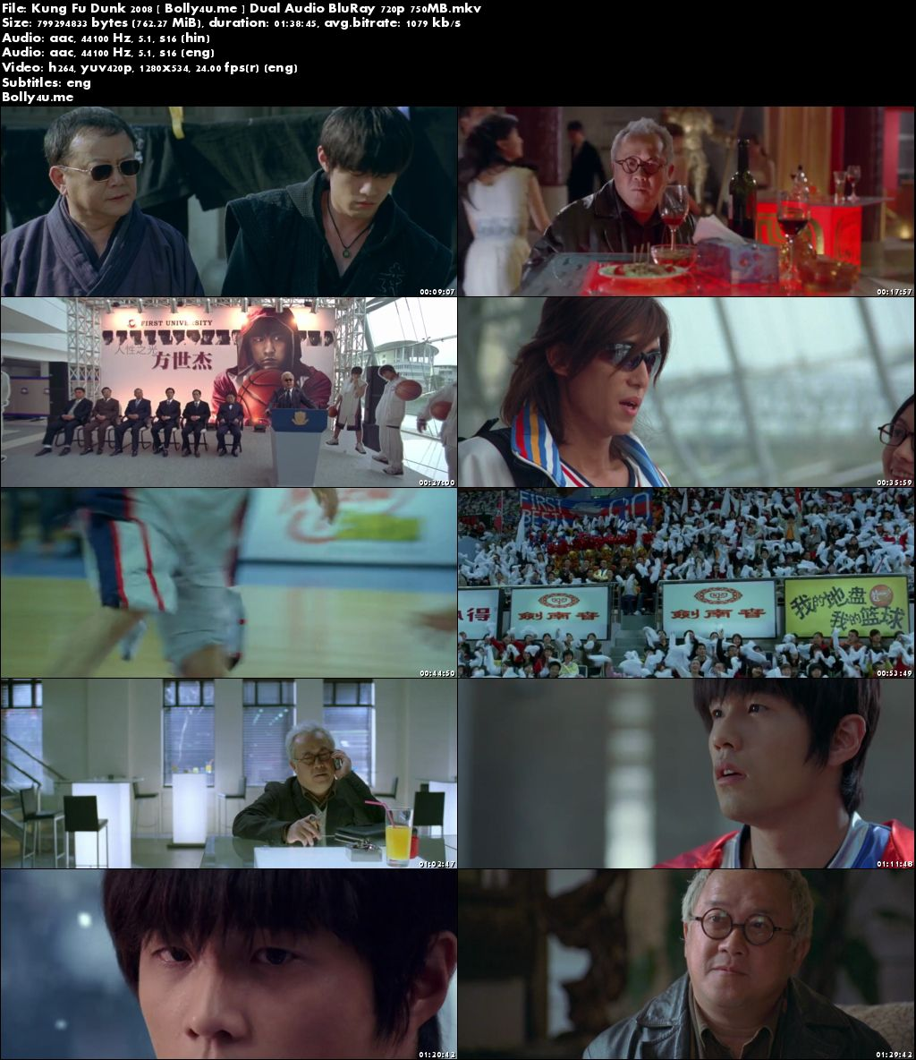 Kung Fu Dunk 2008 BluRay 750Mb Hindi Dual Audio 720p Download