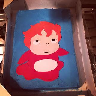 cobberson ponyo fondant cake