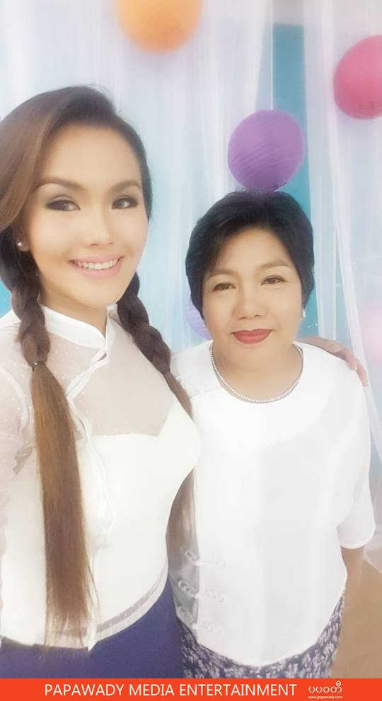 Ni Ni Khin Zaw and Her Mother Commercial Photo Shooting