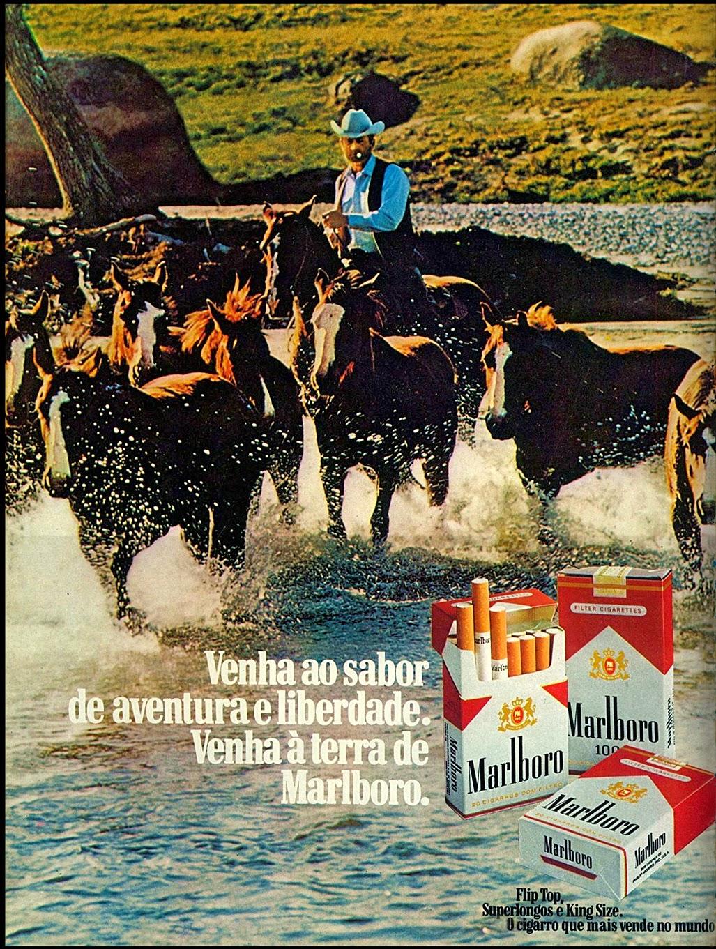 anúncio de cigarros malboro anos 70; propaganda anos 70; história decada de 70; reclame anos 70; propaganda cigarros anos 70; Brazil in the 70s; Oswaldo Hernandez;
