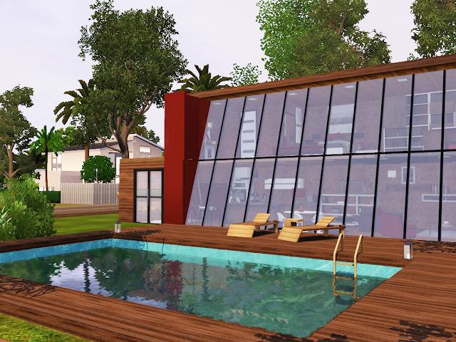Maison contemporaine Sims 3 gratuite