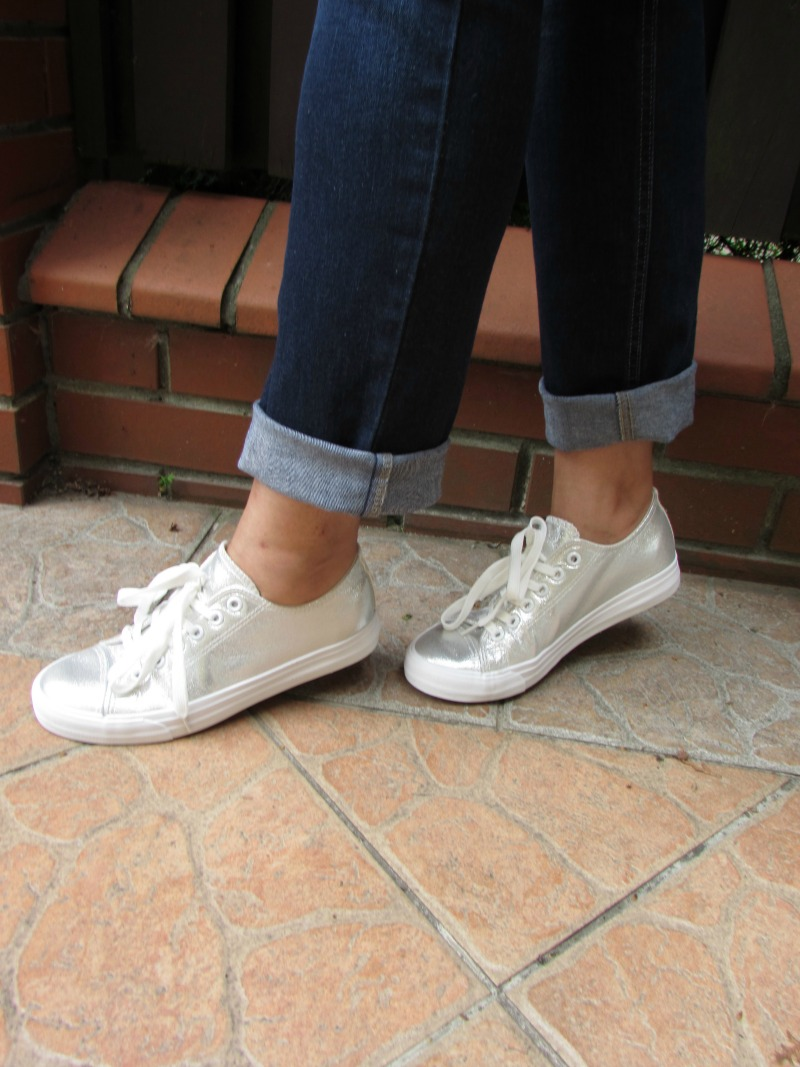 silver trainers
