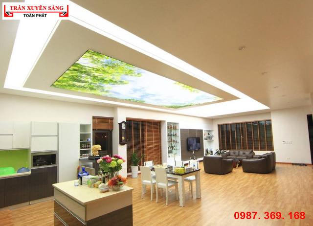 Hình ảnh trần nhà đẹp xuyên sáng