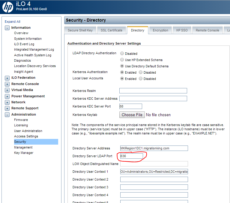 How to Configure HP ILO 4 for Active Directory Login ~ Migration King