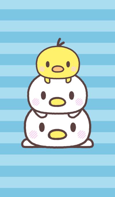 Cute fowl family