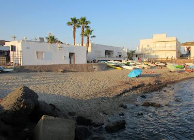 Casitas blancas. Pueblo de la Isleta de Cabo de Gata