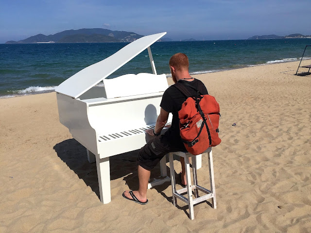 picture with piano prop nha trang vietnam