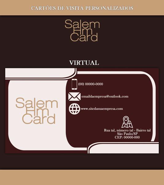 Cartão de Visita - Modelo 1 - Empresa - Virtual
