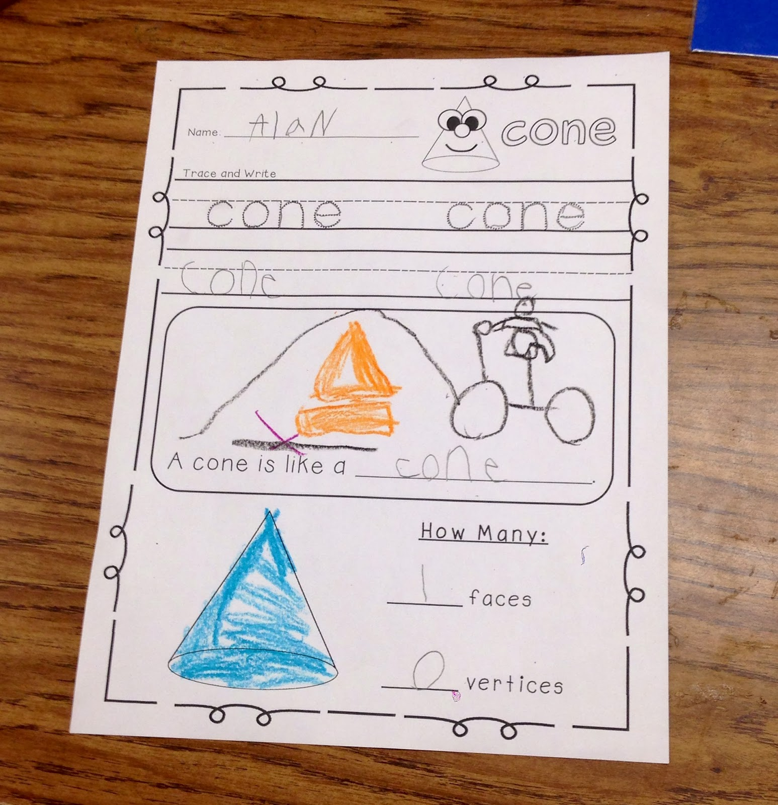 Cone In Real Life: A Spoonful Of Learning: 3D Shapes