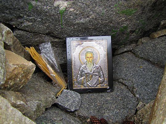 Ikona Świętego Iwana Rilskiego na szczycie Musały.