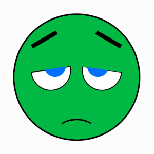 sad flat green smiley