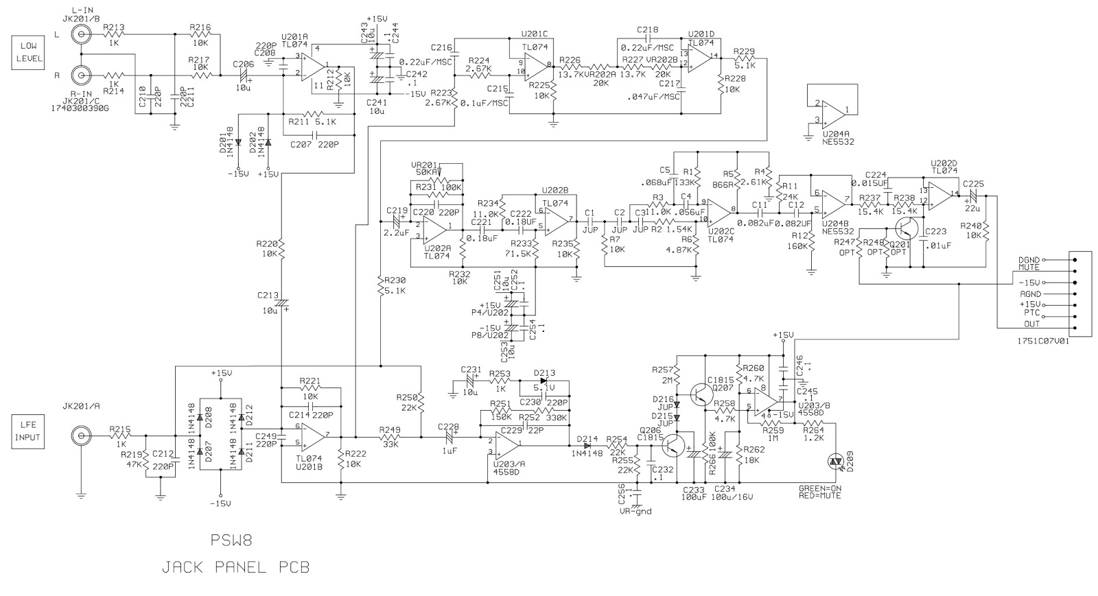 Infinity Psw 8 230 Classia Series Powered Subwoofer Circuit Diagrams Diagram Schematic