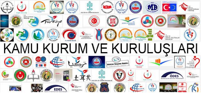 Çeşitli kamu kurum ve kuruluşlarının logo ve amblemleri