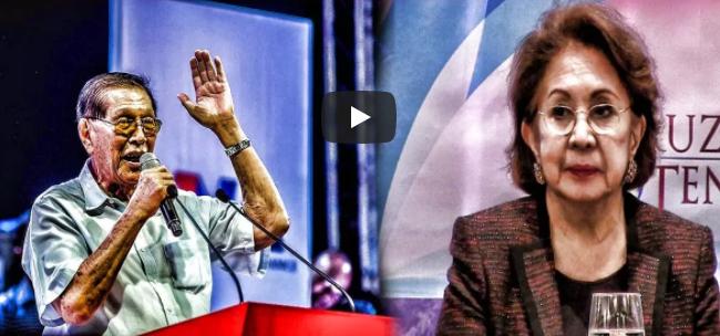 WATCH: Juan Ponce Enrile Pinagtanggol Si Pres. Duterte Sa Mga Akusasyon Ng Ombudsman