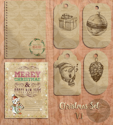 Vintage Christmas Set Volumen 1