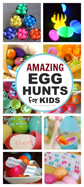 Over 20 Easter egg hunt ideas for kids. Wow, these are awesome!!!